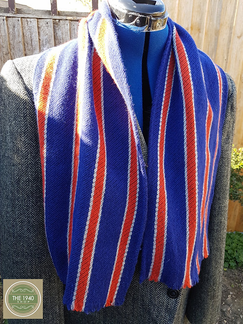 Vintage School College Scarf, 1940's accessory, Boys, Mens, WW2, Home Front, War