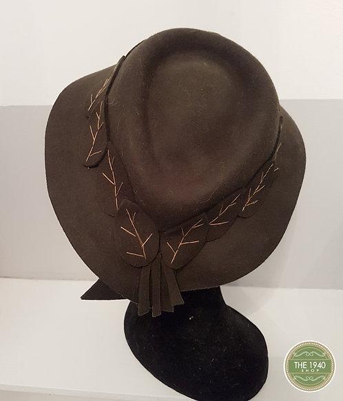 Ladies Leaf Hat, 1940's, WW2, Homefront