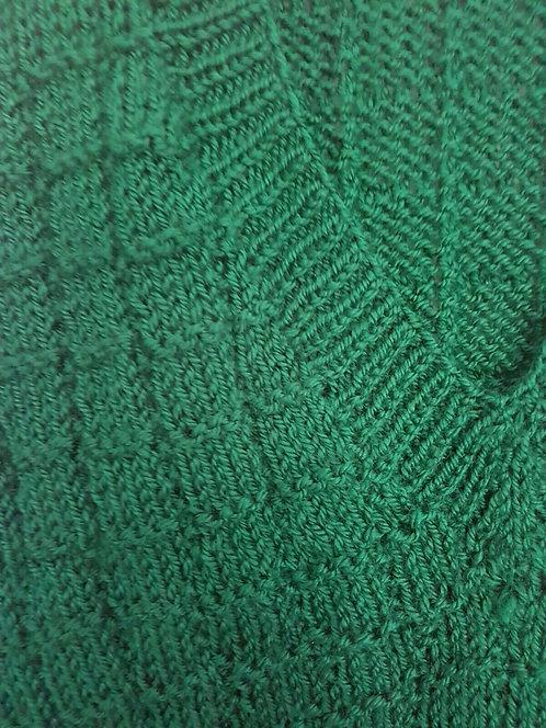 Men's Sleeveless Pullover, Hand Knitted    (S)