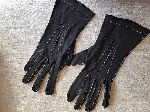 Ladies Black Vintage Gloves
