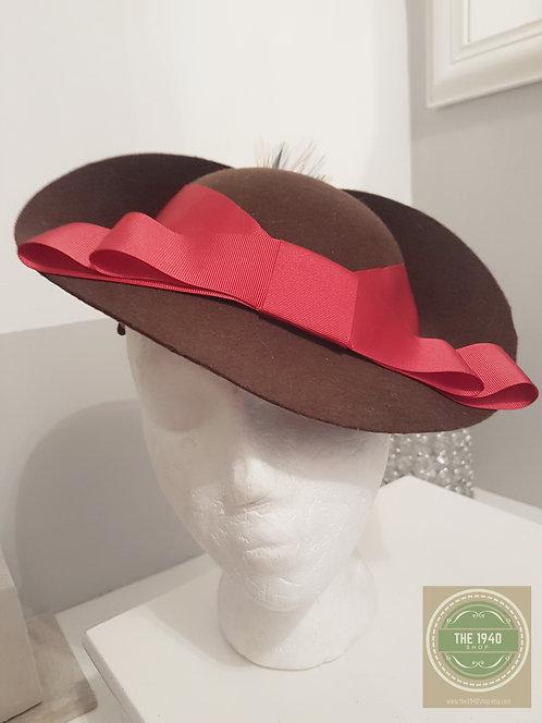 Chocolate Brown Wool Felt Hat