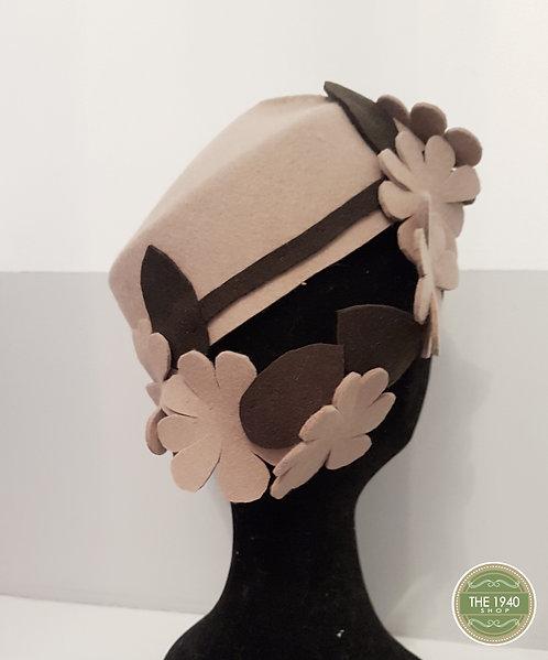 Ladies Flower Hat, 1940's, WW2, Homefront