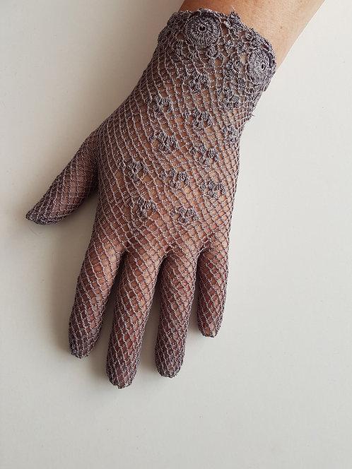 Mink Crochet Gloves