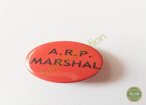 A.R.P Marshal pin badge
