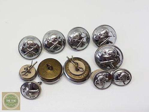 Vintage Fire Service Buttons