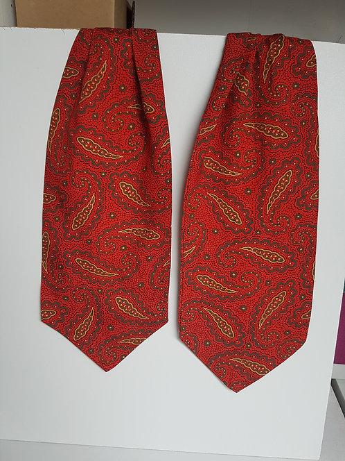 Vintage red paisley cravat