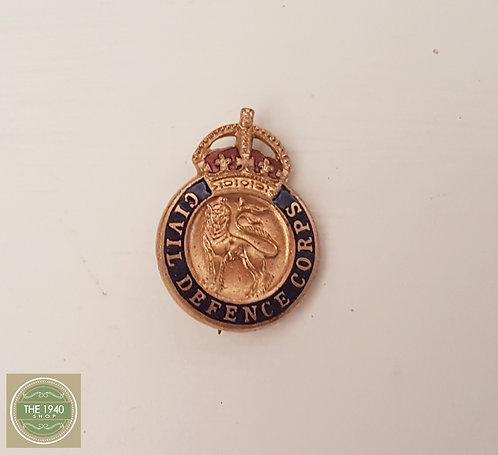 Civil Defense Corps Lapel Pin, vintage badge, ww2, 1940's, Home Front