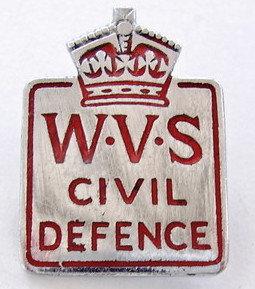 1940's WVS metal badge