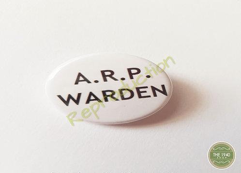 ARP Warden Pin Badge
