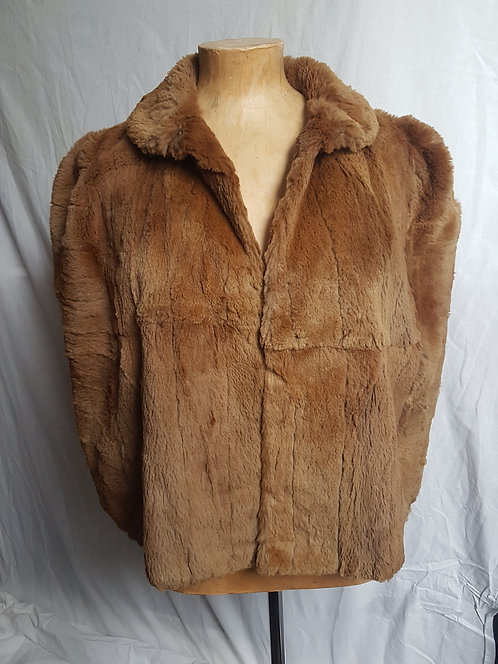 Ladies vintage fur shrug jacket  (2)