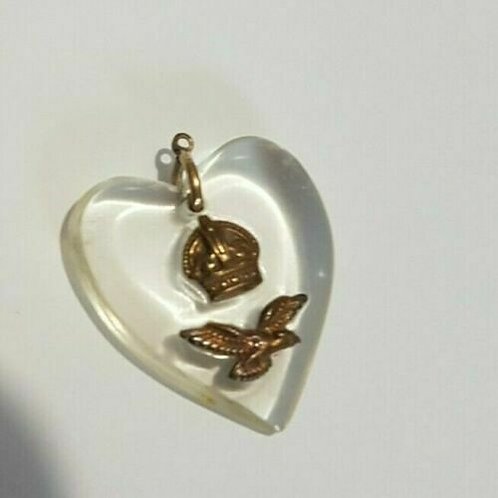 WW2 RAF Sweetheart pendant, Kings crown, Home Front, 1940's (X)