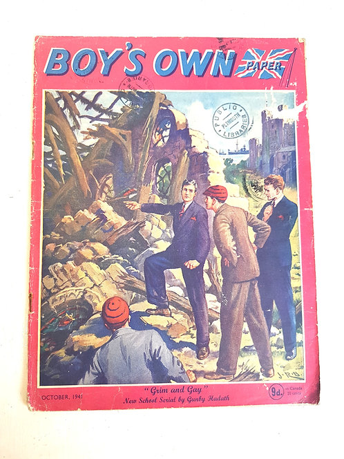 Boy's Own magazine October 1941