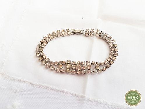 Vintage Diamante bracelet, evening jewellery, bride, wedding, 1940, 1950 retro