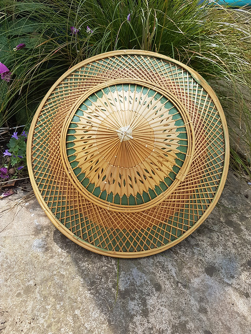Vintage Bamboo Coolie hat, sunhat, chinese, farmers, 1950