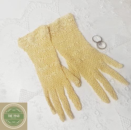 Lemon Crochet Gloves