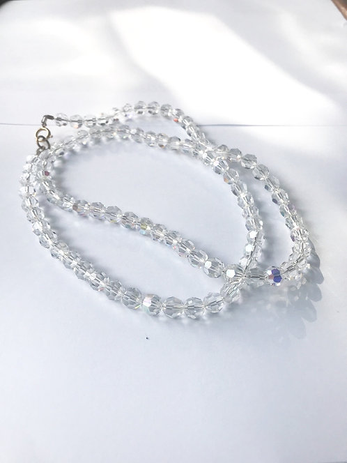 Long length glass bead necklace   (J202)