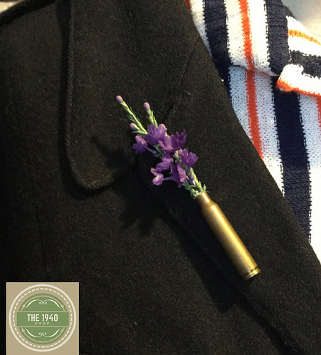 Wartime Brooch, Brass Lapel Pin