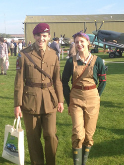Land Girl and Solider