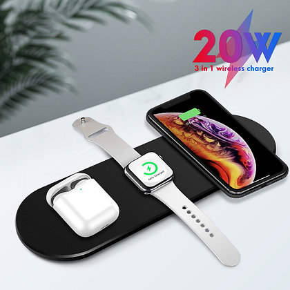 3 in 1 ワイヤレス充電器 iphone android