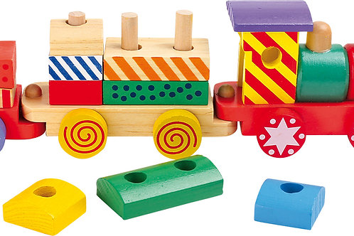 train building block set