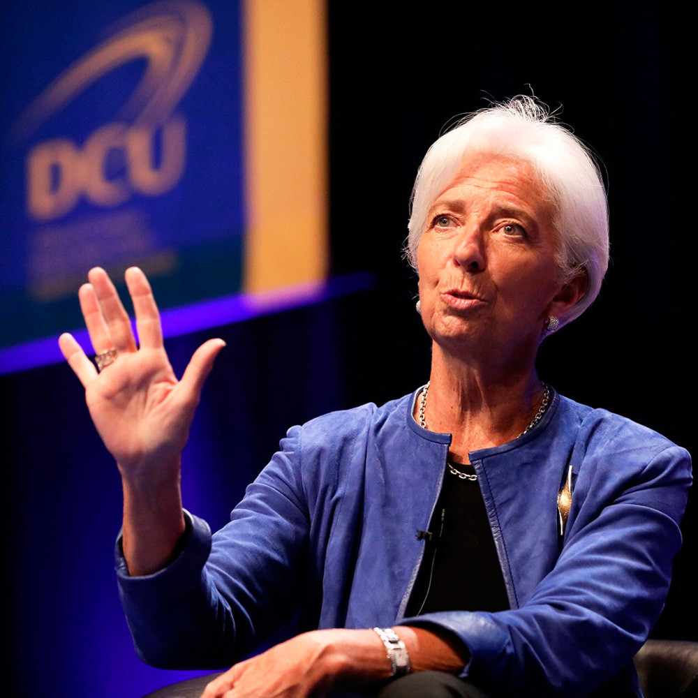 Christine Lagarde at DCU