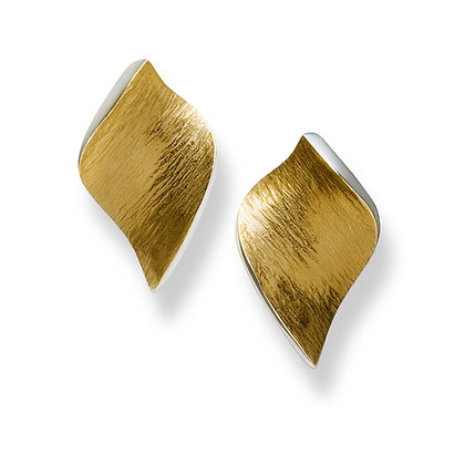 "Flowing Curves ""leaf shape"" earrings"