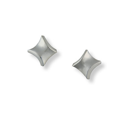 Silver Twist small stud earrings