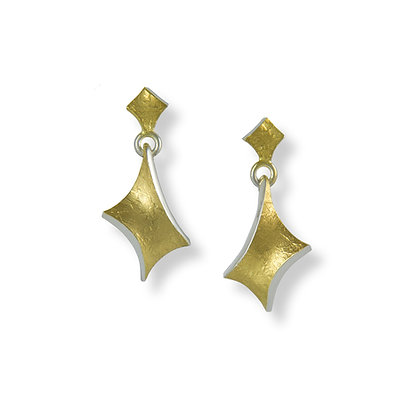 Golden Twist small hanging earrings