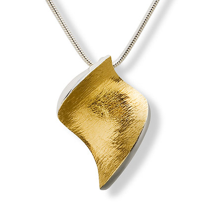 "Flowing Curves ""leaf shape"" pendant"