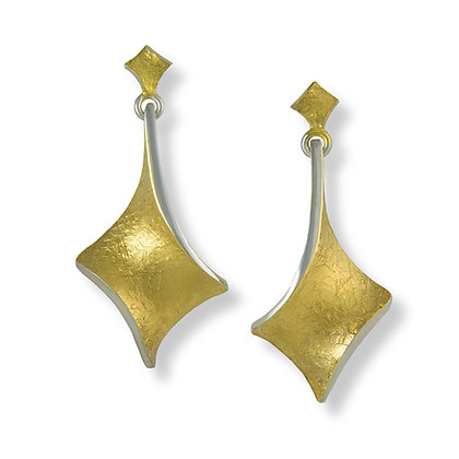 Golden Twist long hanging earrings