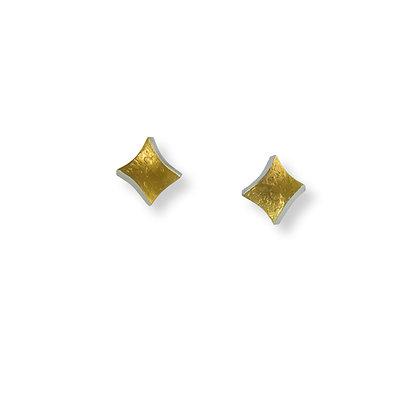 Golden Twist small stud earrings