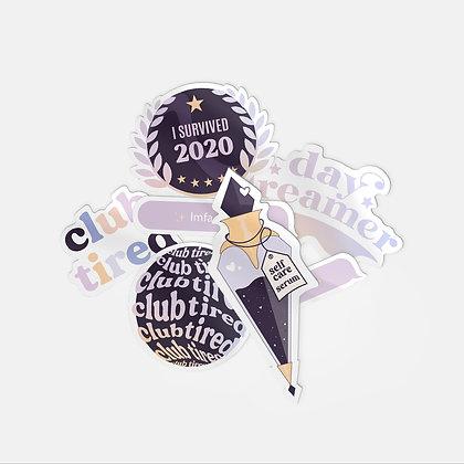6 sticker bundle