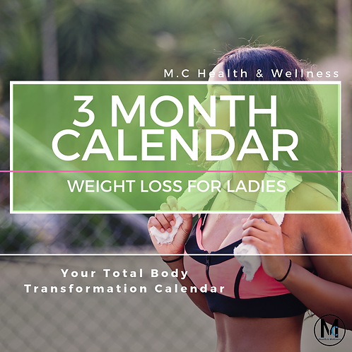 Ladies 3 Month Calendar - WEIGHT LOSS