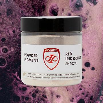 _0032_Red Iridescent jofa resins metallic pigment epoxy art design 100g uk delivery buy on