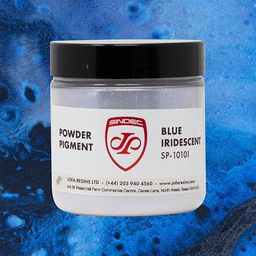 _0036_Blue Iridescent jofa resins metallic pigment epoxy art design 100g uk delivery buy o