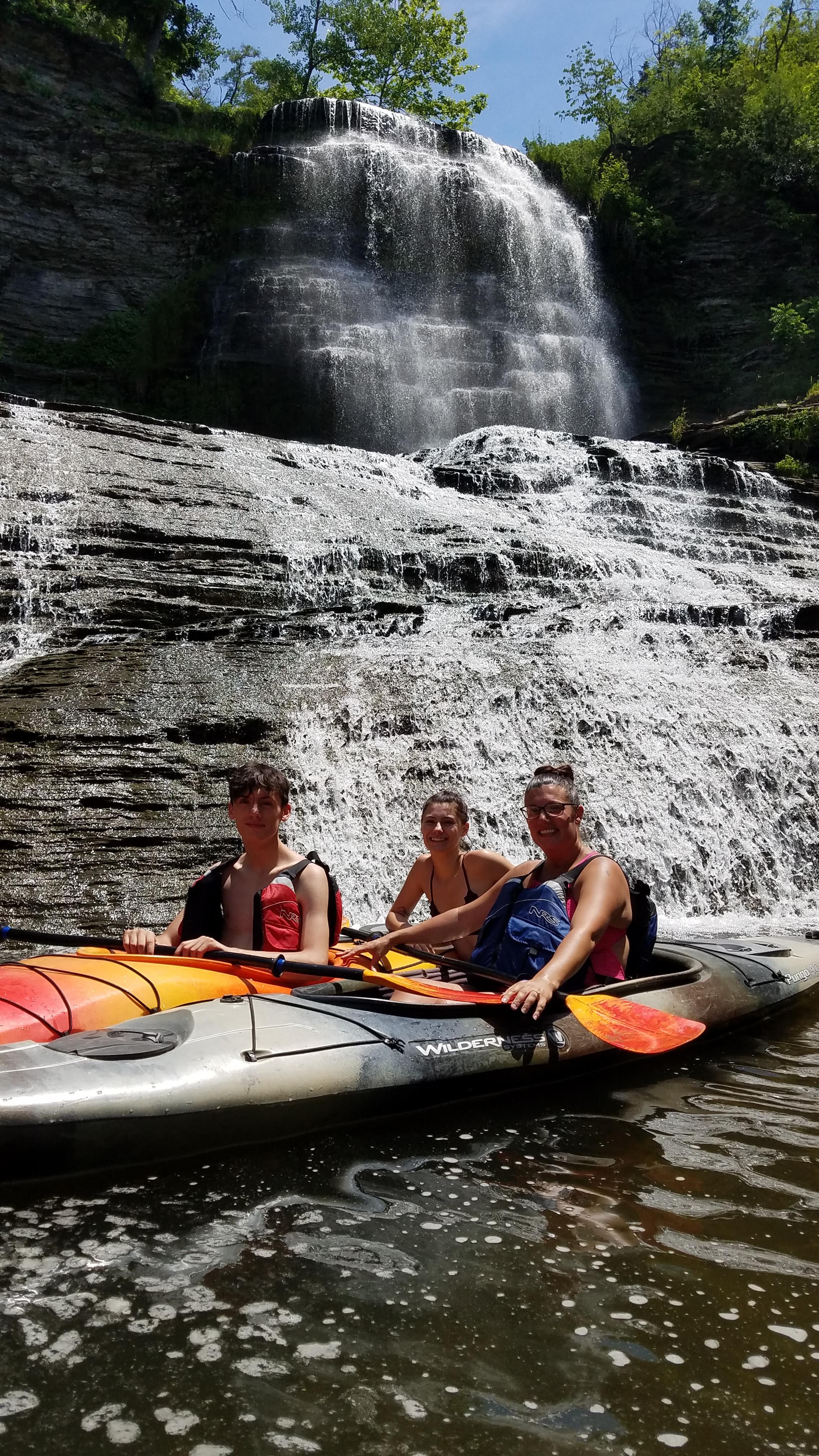 Hector Falls Kayak Tour Sept 20 to close