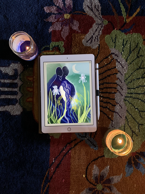 Personal Oracle Card; a channeled illustration and message