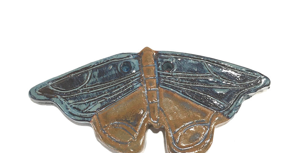 Blue Grotto/Stormy Blue Moth ornamet