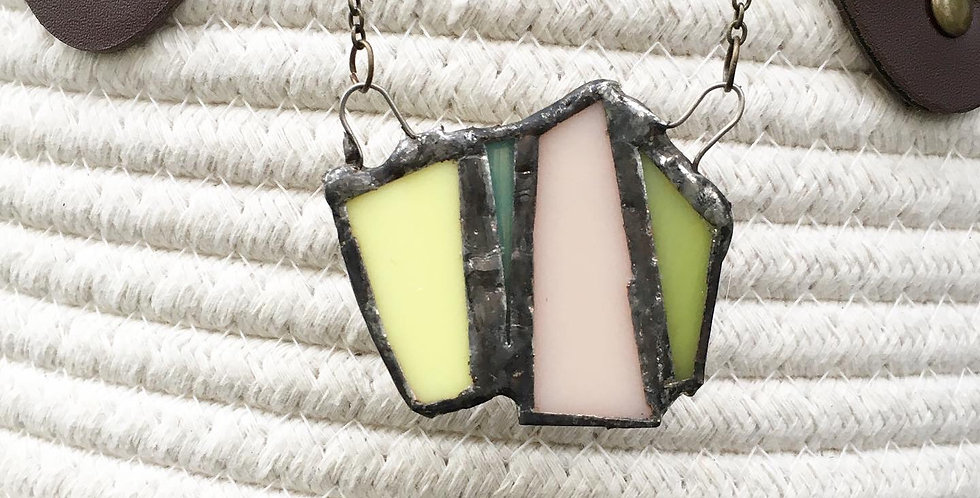 Pastel Stained Glass Necklace