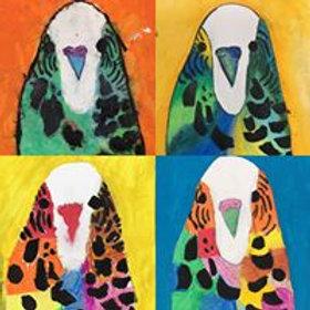 Oil Pastel Birds