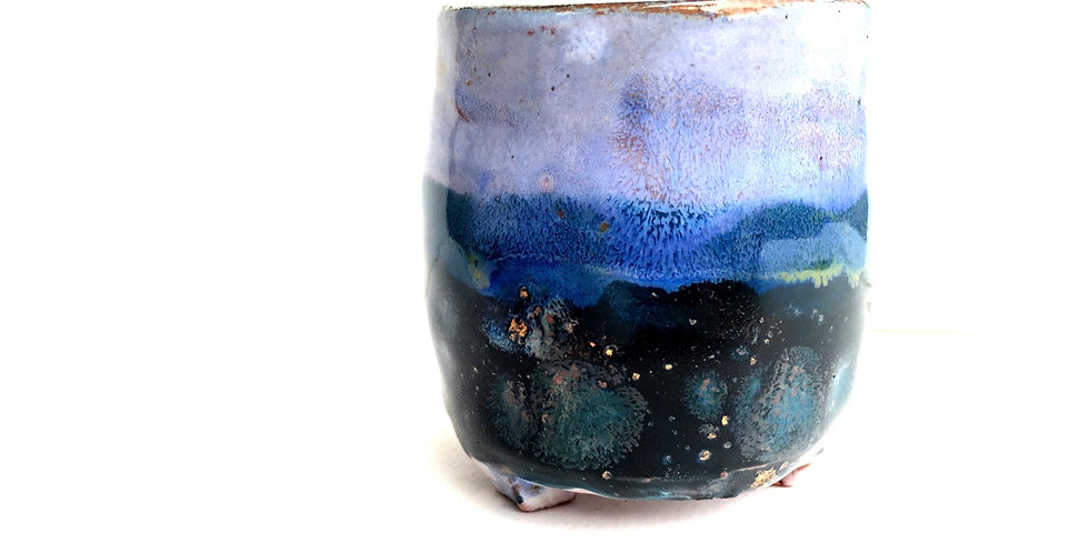 Blue Cosmos Miniature Planter