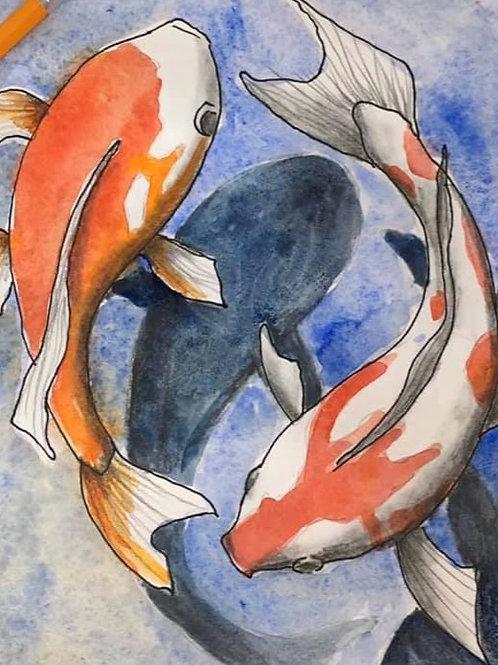 Koi Watercolor