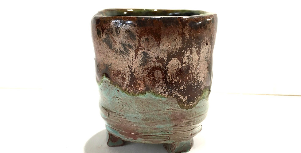 Copper/Green Miniature Planter II