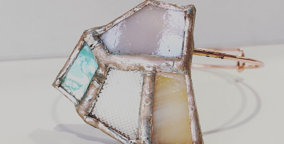Pastel Glass Adjustable Bangle