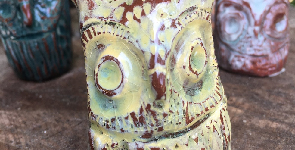 Yellow Crackle Owl