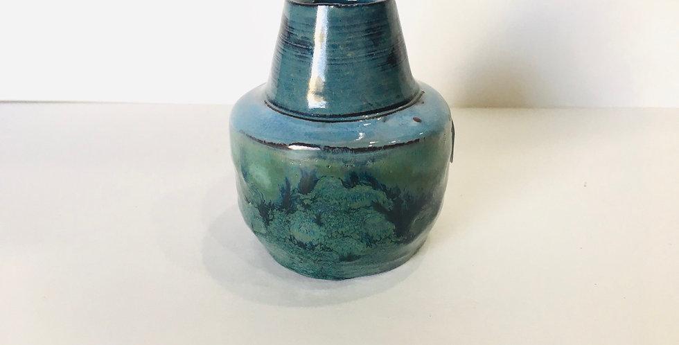 Blue/green Miniature Bud Vase