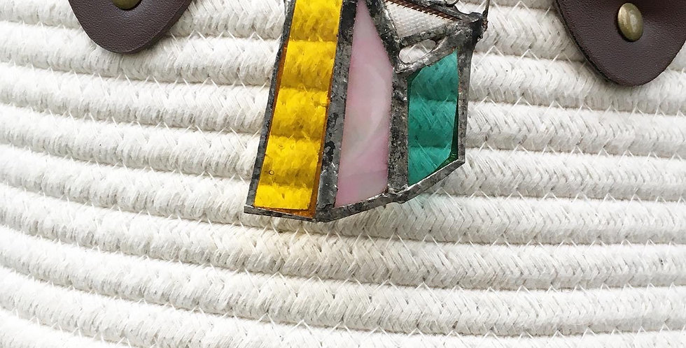 Retro Stained Glass Necklace