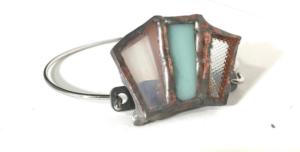 Blue & Transparent Hook and Clasp Bracelet