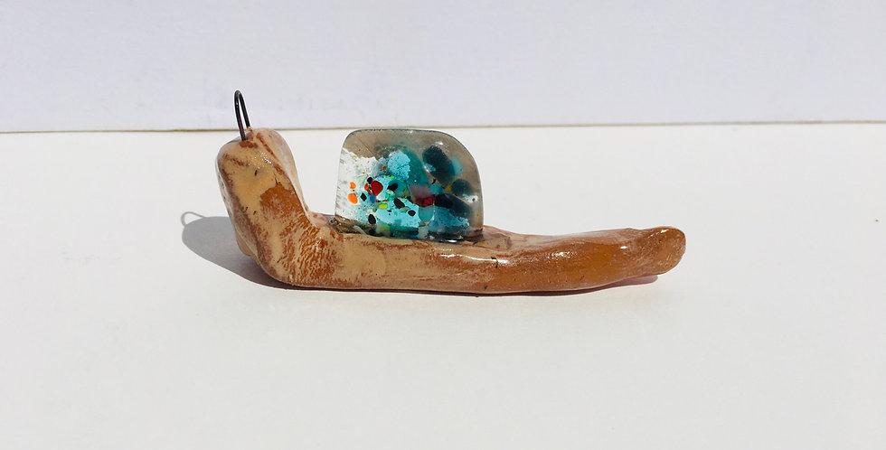 Clear Confetti Snail 4