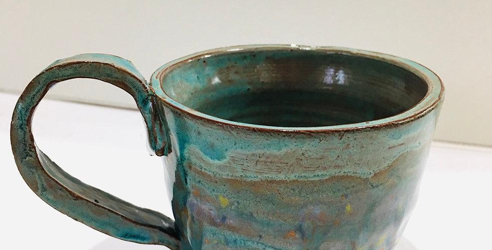 Turquoise Confetti Mug